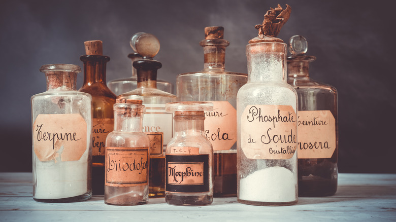 apothecary old bottles