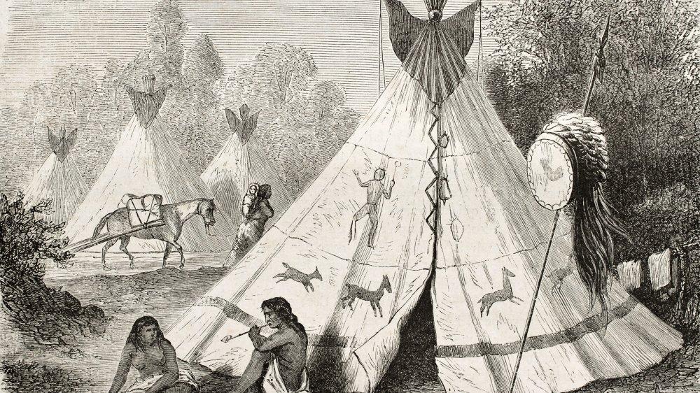 Native American camp, 1860