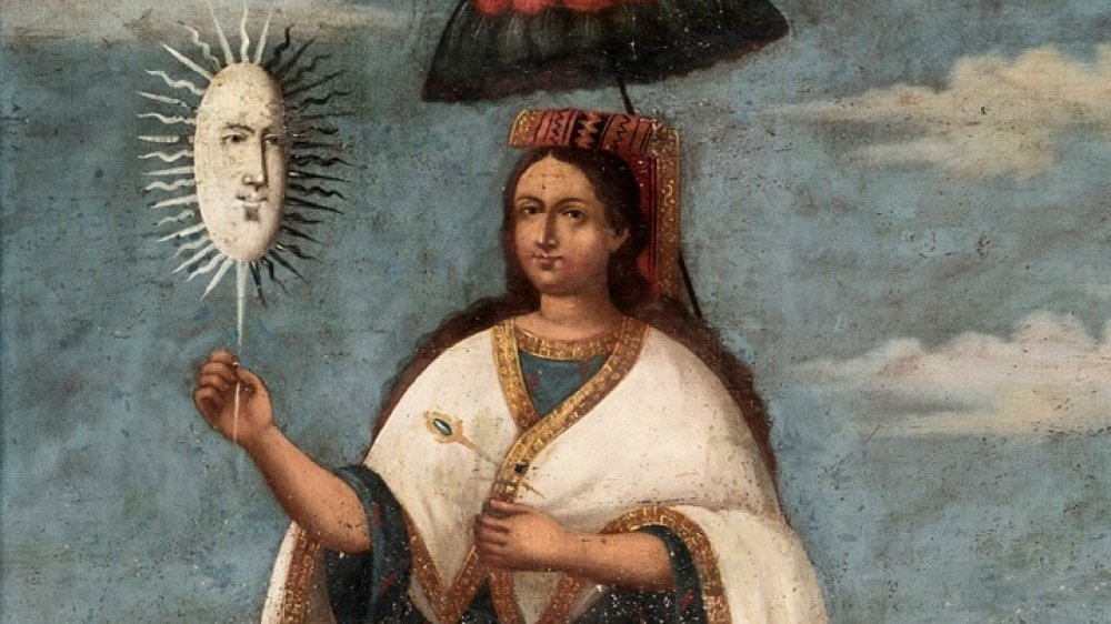 18th century painting by Mama Huaco, the Wife of God