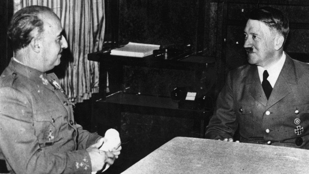 Francisco Franco and Adolf Hitler