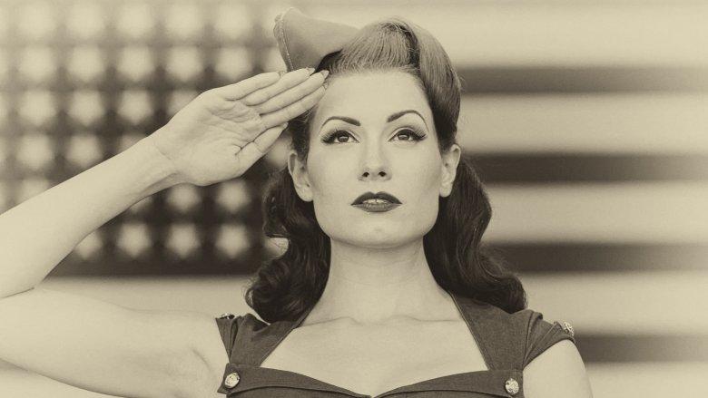 Women saluting