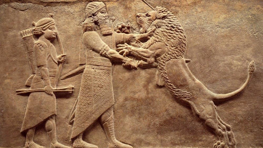 Ancient Mesopotamian engraving