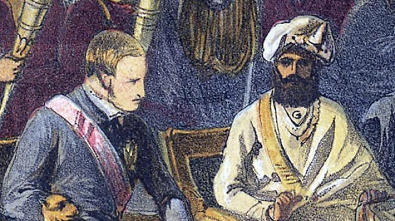 Return visit of the Viceroy to the Maharaja of Cashmere, British India