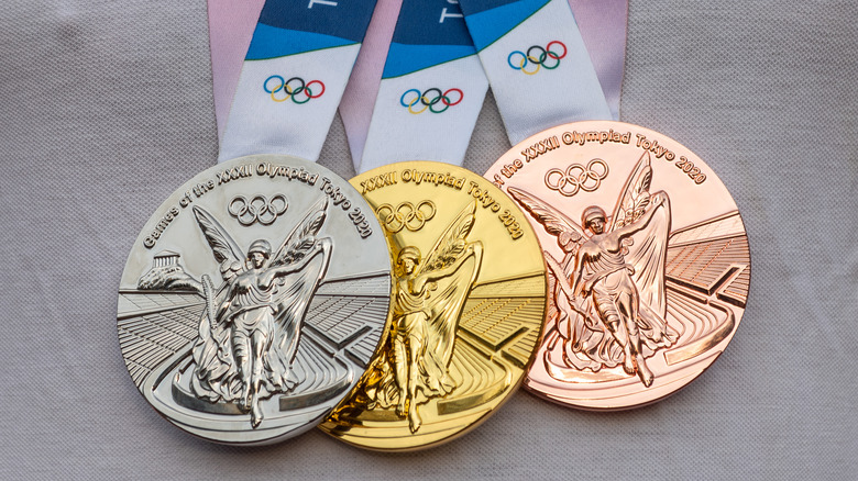 Olympic gold, silver, bronze medals