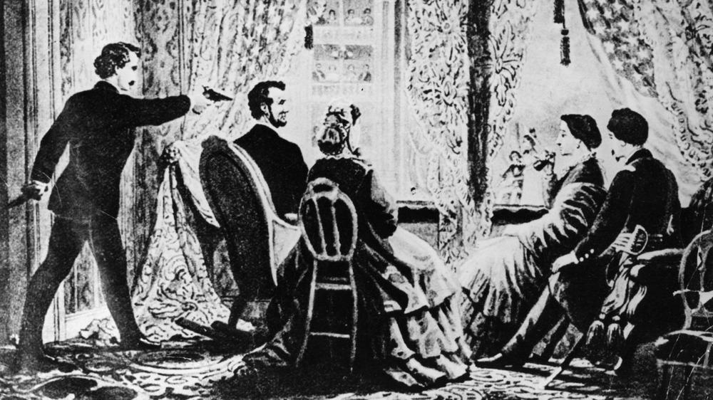 John Wilkes Booth shooting Lincoln