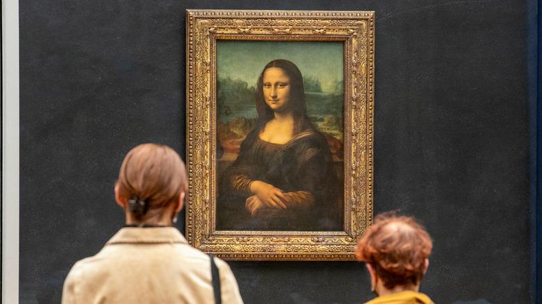 The Mona Lisa on display