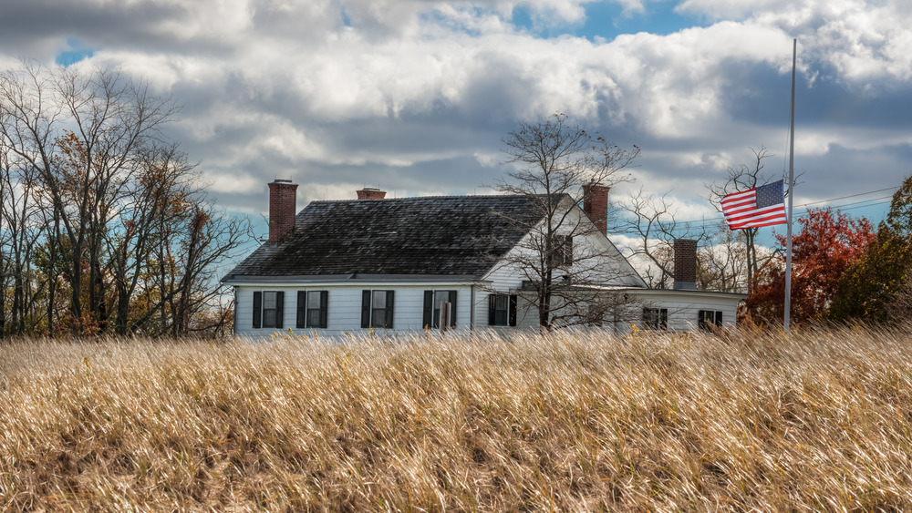 Seabrook-Wilson House from the dunes