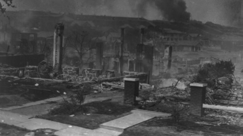 Tulsa Greenwood neighborhood in ruins