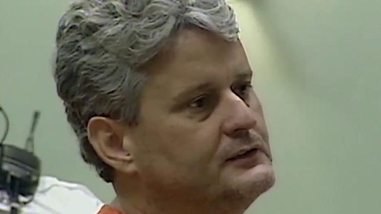 Bobby Joe Long scowling in court