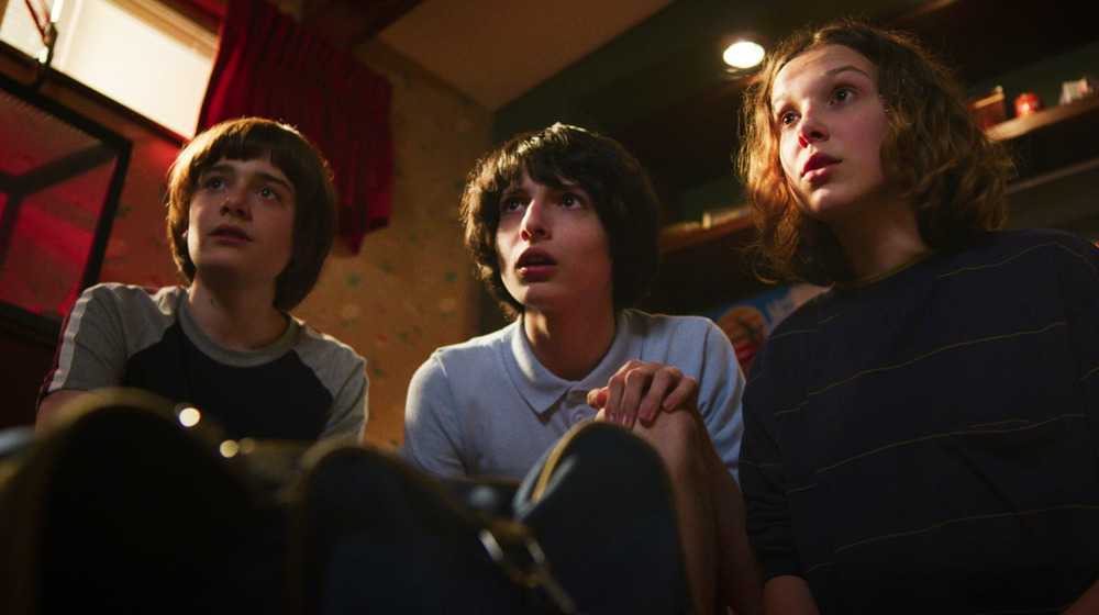 Stranger Things - Will, Mike, and Eleven.