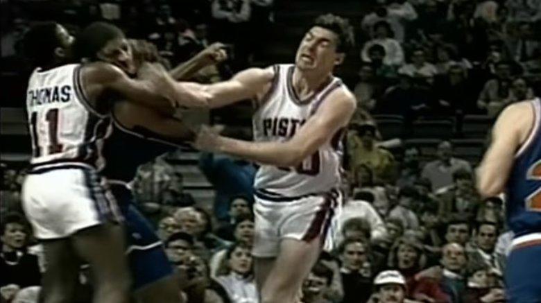 Detroit Pistons Bad Boys fight