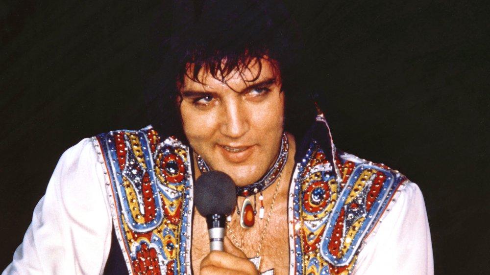 Elvis performing in 1975