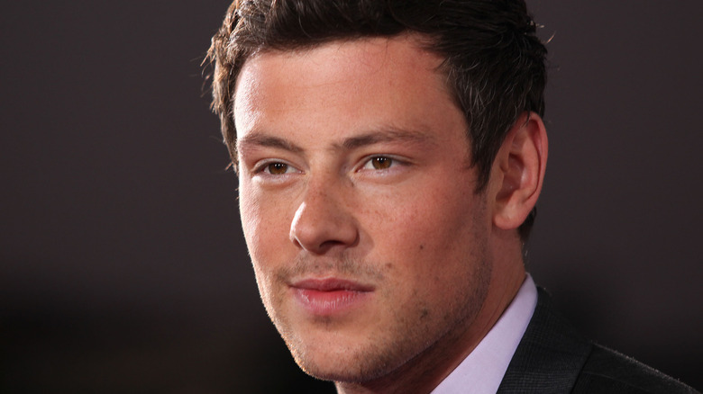 Cory Monteith at a movie premiere
