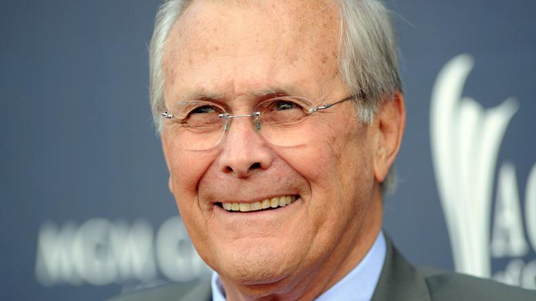 Close up of Donald Rumsfeld