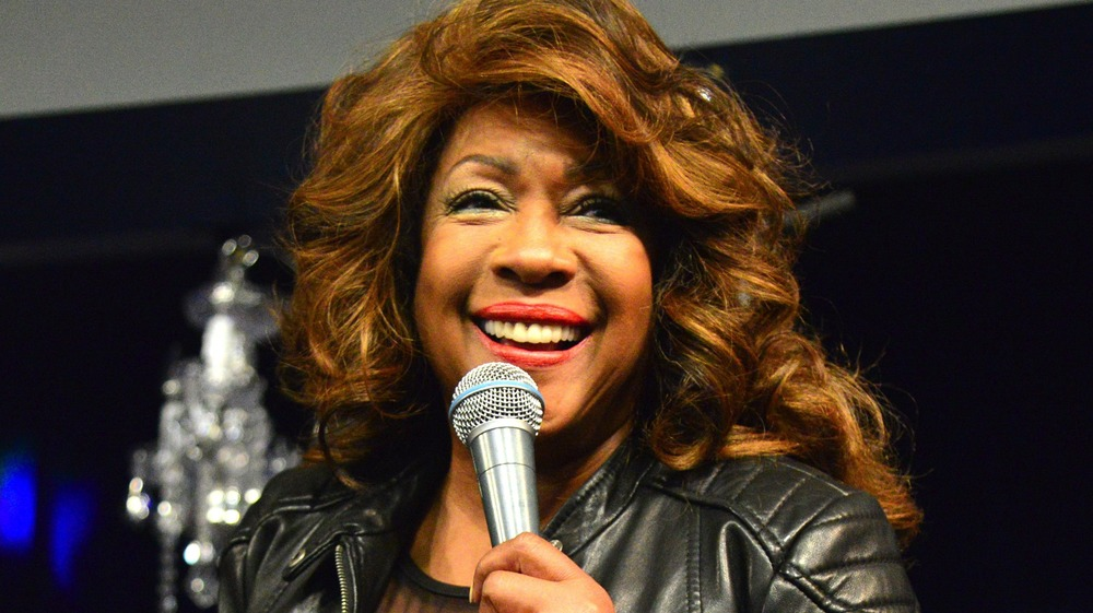 Mary Wilson at the microphone