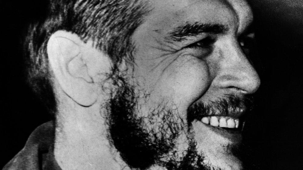 A close-up shot of Che Guevera