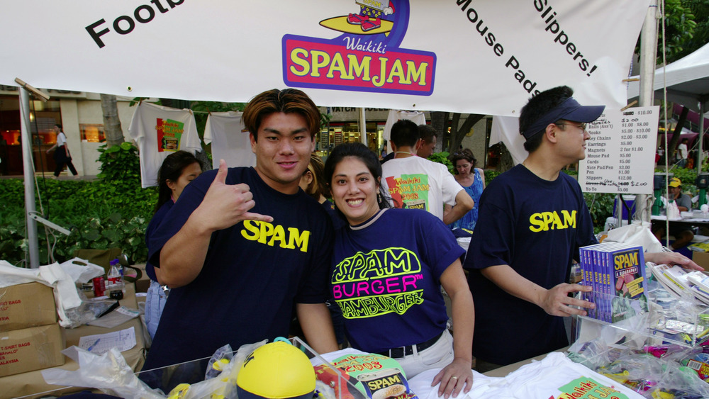 Spam Jam booth