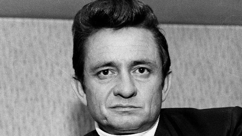 Johnny Cash posing