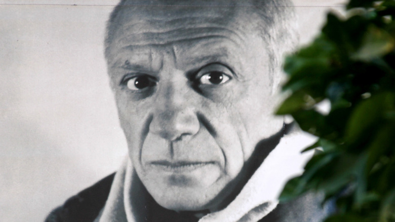 Pablo Picasso and tree