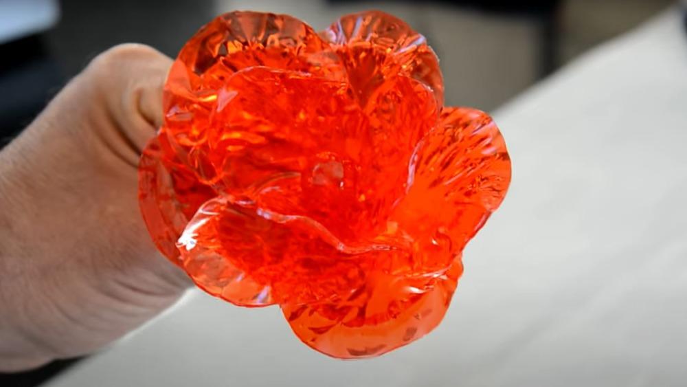 Red sugar art flower
