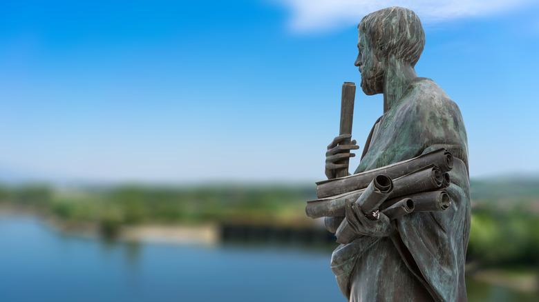 greek philosopher Aristotle statue