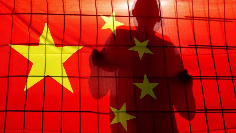 China flag prisoner