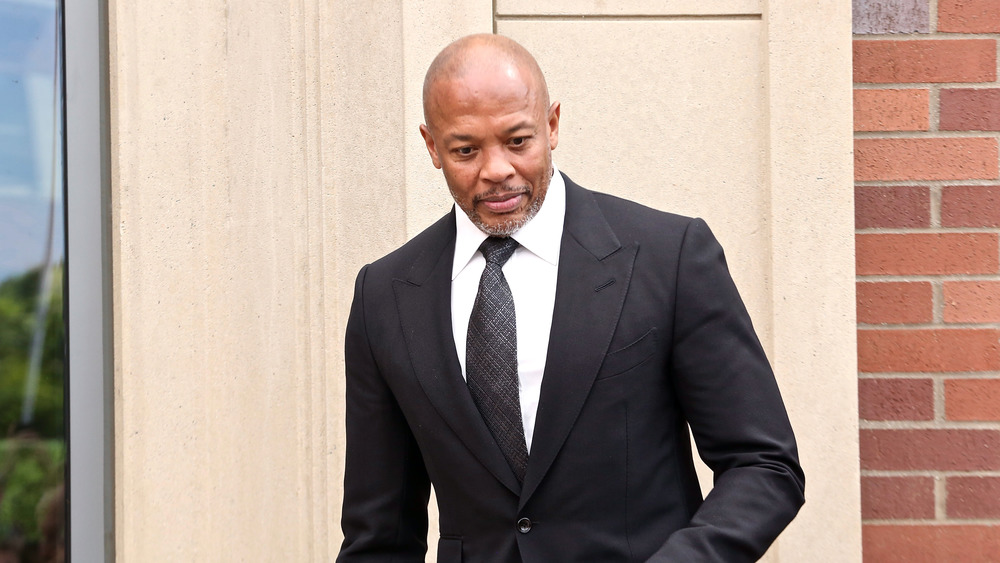 Dr. Dre in a suit