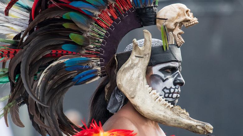 Aztec dancer in Mexico city