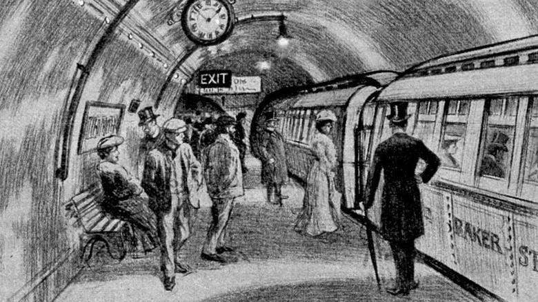 a 1900s subway