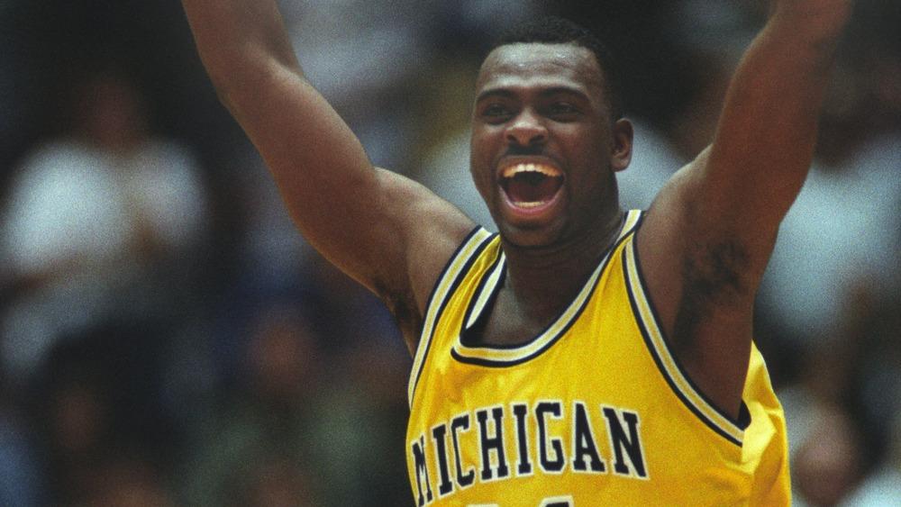 Michigan's Ray Jackson celebrating