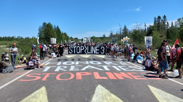 protest against Line 3 pipeline