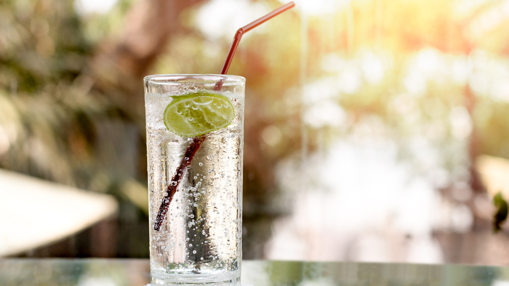Seltzer water and lime