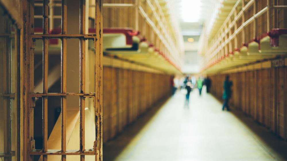 Prison cell block corridor