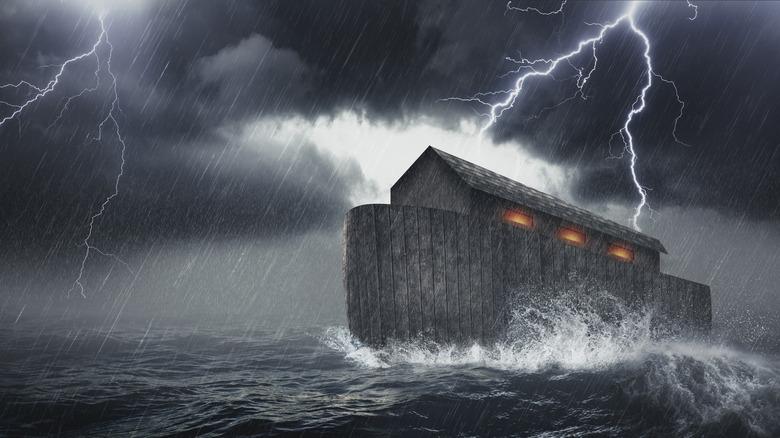 drawing of Noah's Ark, bible story