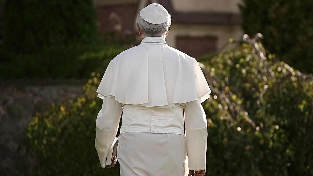 Pope walking away