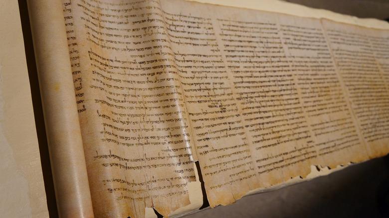 Dead Sea Scrolls on display