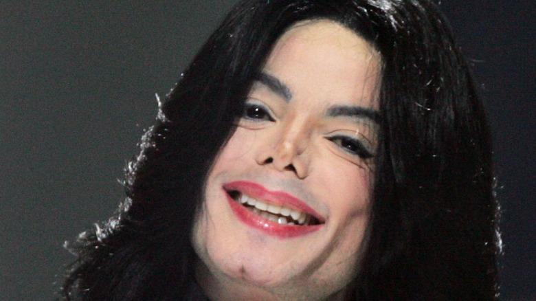Singer Michael Jackson smiling