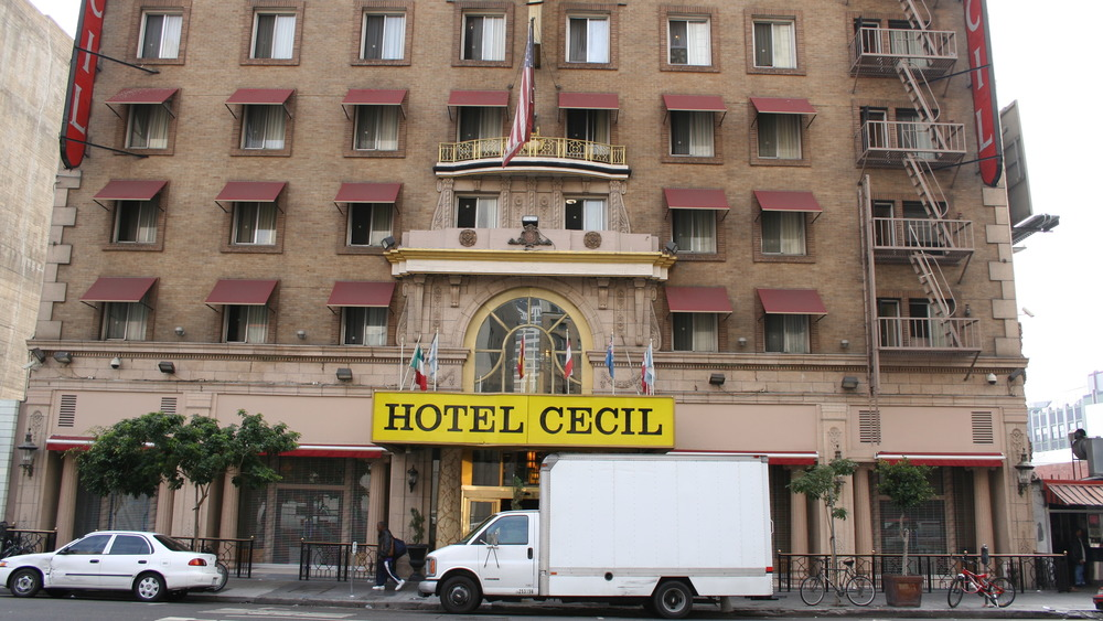 Front exterior of Cecil hotel