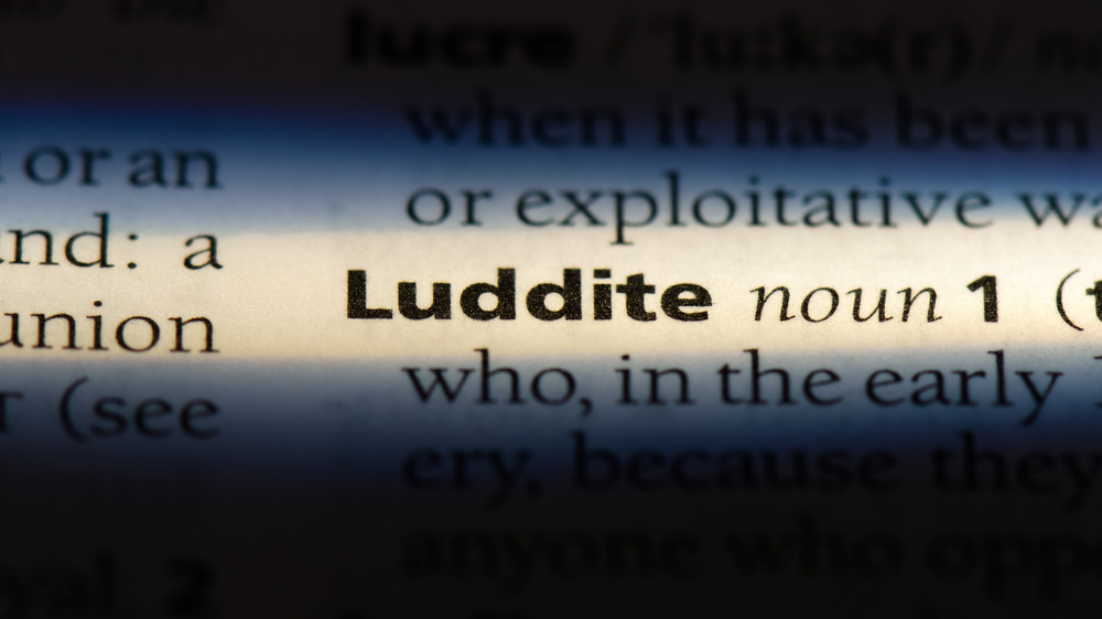 Luddite dictionary entry