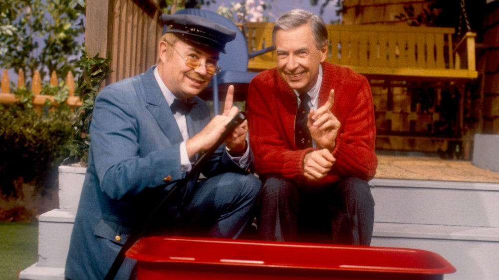 Mister Rogers and Mr. McFeely from PBS' Mister Rogers' Neighborhood