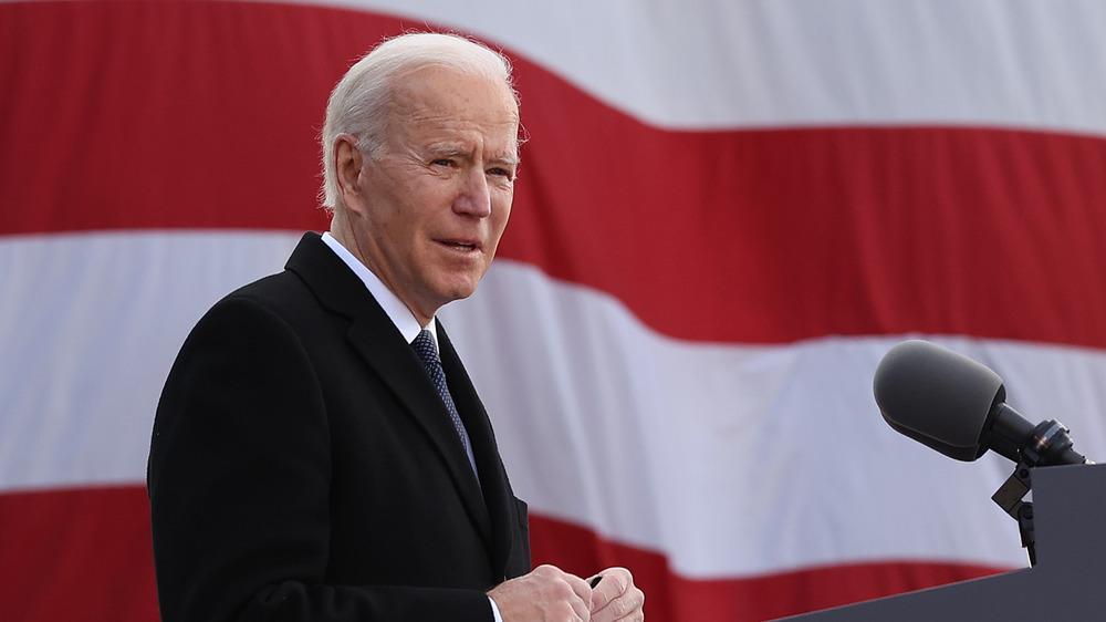 Joe Biden and American Flag