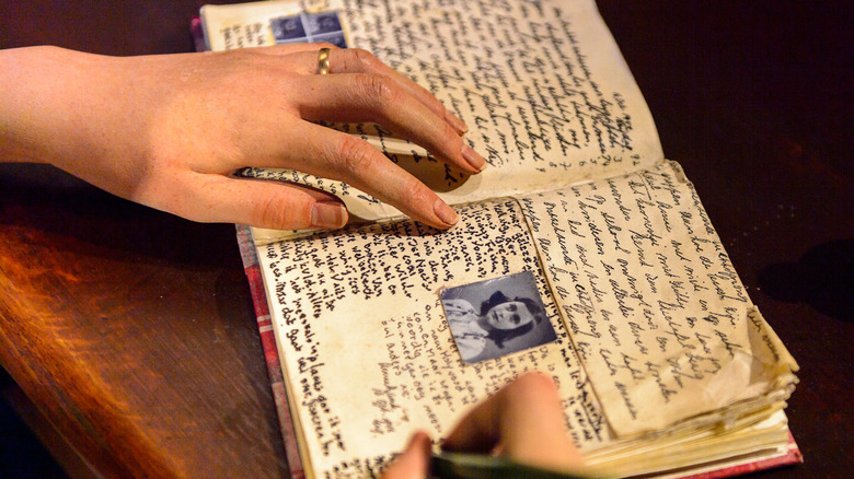 Reproduction of Anne Frank's diary