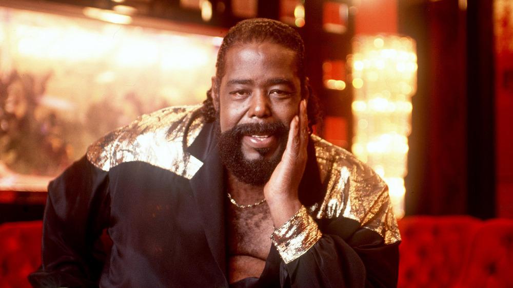 Soul singer Barry White, 1987