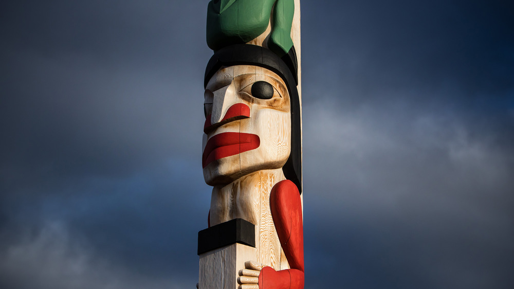 First Nations totem pole, Canada