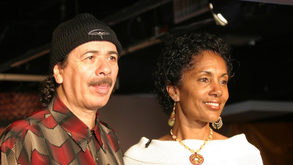 Musician Carlos Santana and his former wife, Deborah