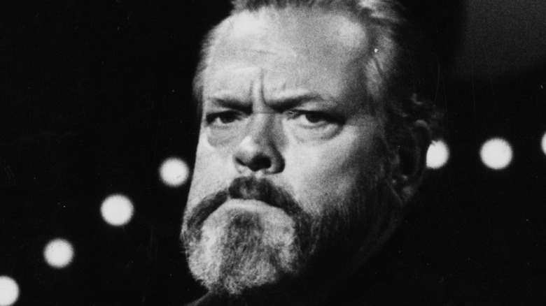 Orson Welles frowning