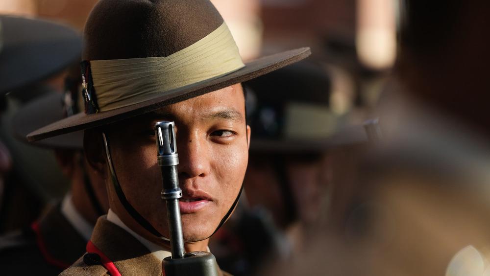 A Gurkha soldier