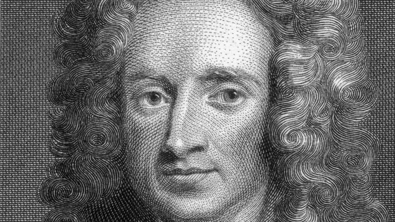 Woodcut of Isaac Newton