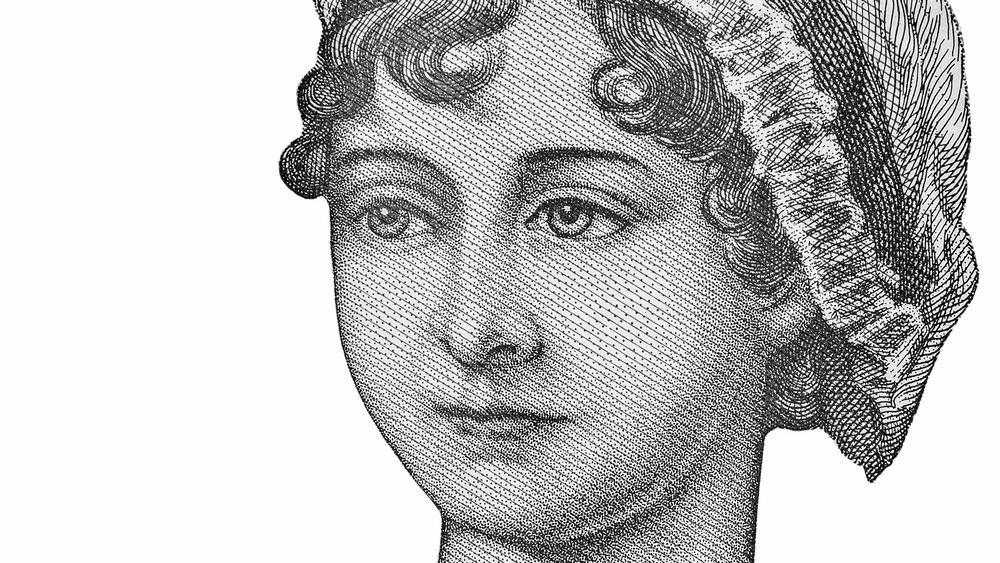 Jane Austen stipple drawing