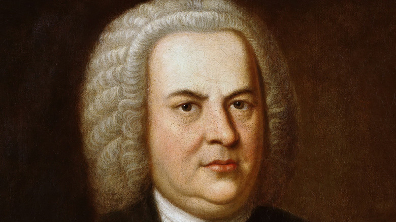 Johann Sebastian Bach posing